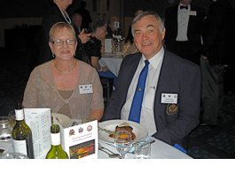 Peter & Jenny O'Hare at the Conway, Worcester, Pangborne reunion in Brisbane - May 2013