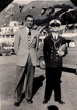Vic Holderness 1955/56 Kenneth Trude and Victor at General Botha Training College October 1955 - Victor was a junior cadet