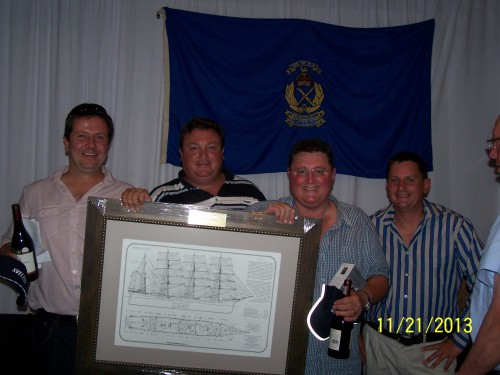 The winning team - from left to right: Greg Rohrs, Henk De Waal, Andre Slabbert, Grant Wingrove, (Sponsored by Good Hope Logistics.